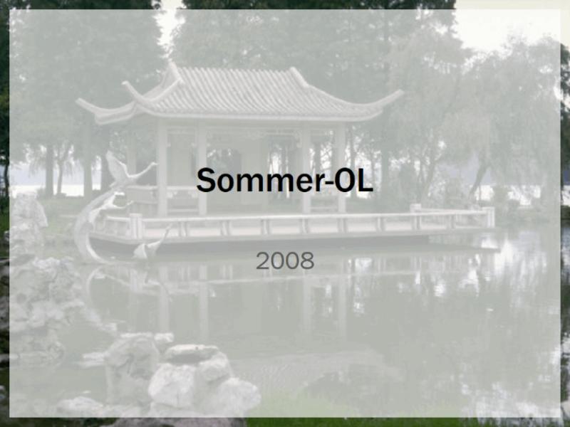 Designskabelon til sommer-OL 2008