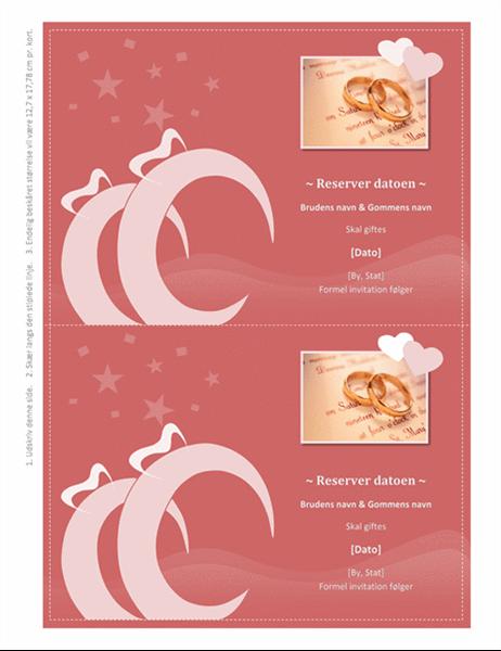 Husk datoen-kort til bryllup