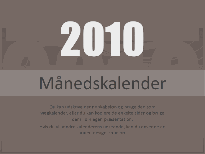 Kalender for 2010 (man-søn)