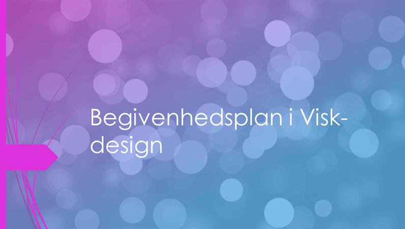 Begivenhedsplan i Visk-design