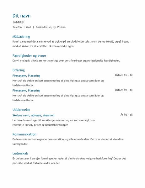 CV (kronologisk)