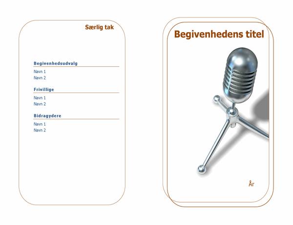 Begivenhedsprogram (halvfoldet)