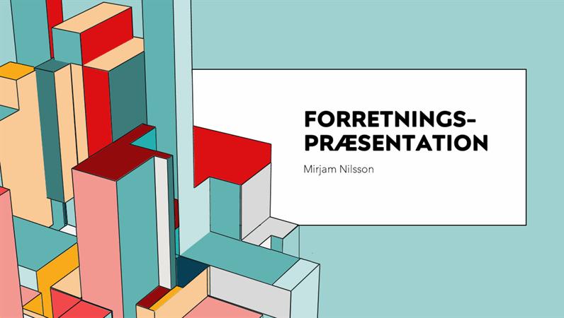 Forretningspræsentation for arkitektur