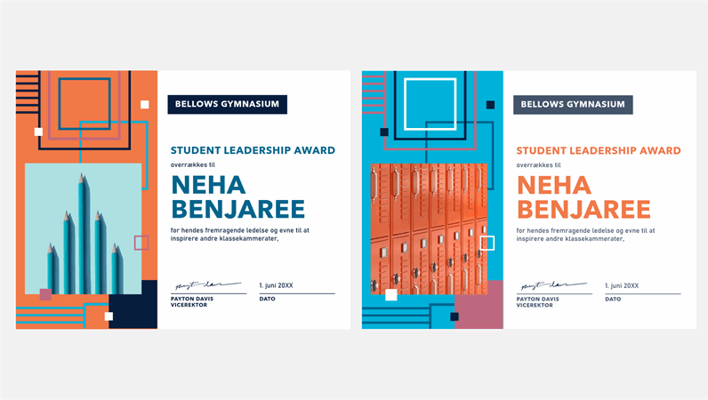 Ledelsespris til studerende – udformet helt geometrisk