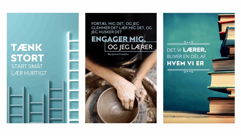Plakater med lærerige citater