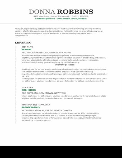 Regnskabs-CV