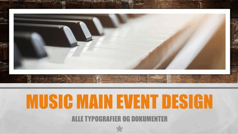 Musik, Hovednavn-design