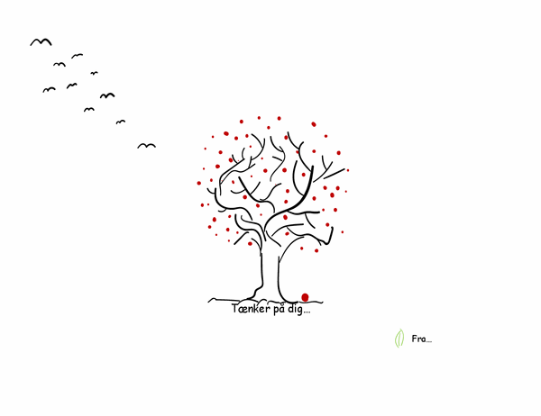 Kondolencekort med træ