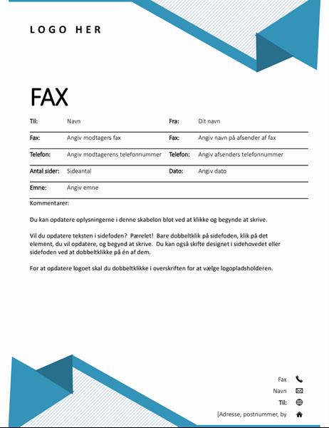 Faxforside med nålestriber