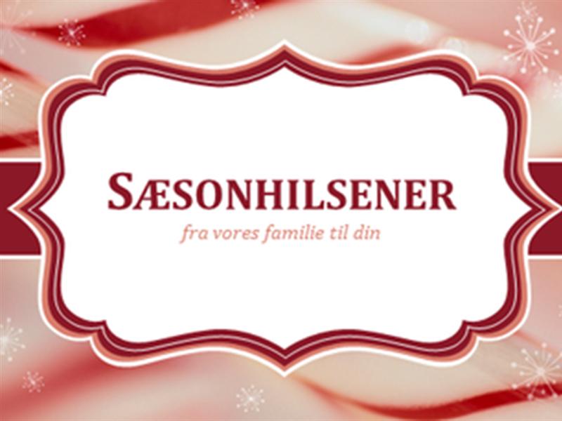 Julekort med sukkerstokke (2 pr. side)