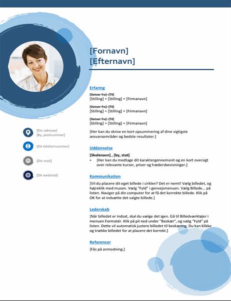 CV med blå kugler