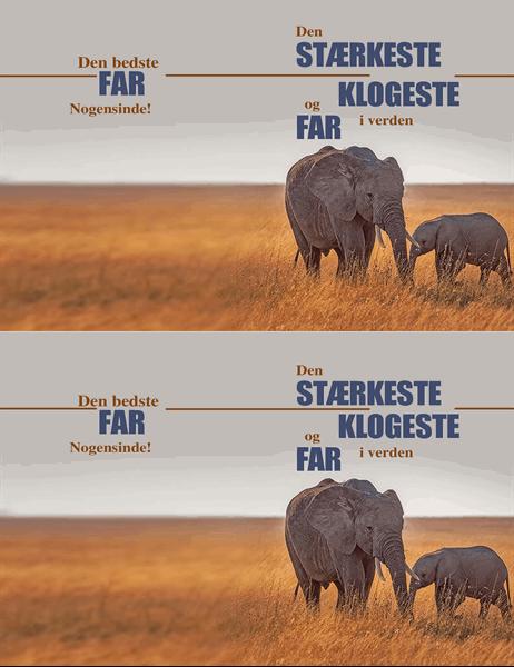Fars dag-kort med klog elefant