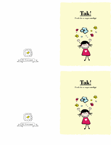 Lille pige-takkekort