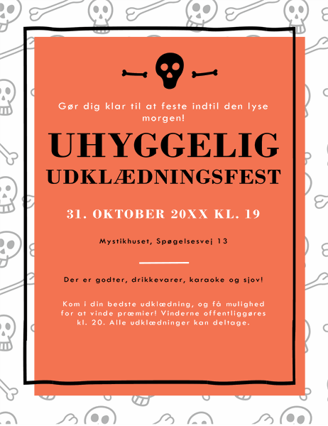 Invitation til at fejre Halloween