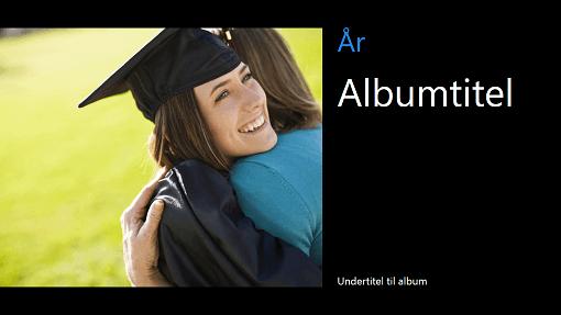 Eksamensfotoalbum, sort (widescreen)