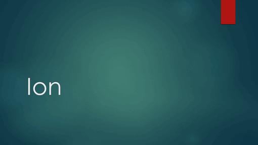 Ion blåt
