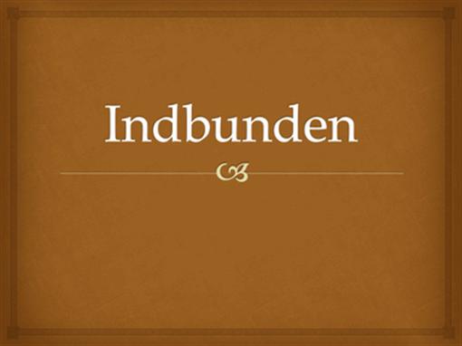Indbunden