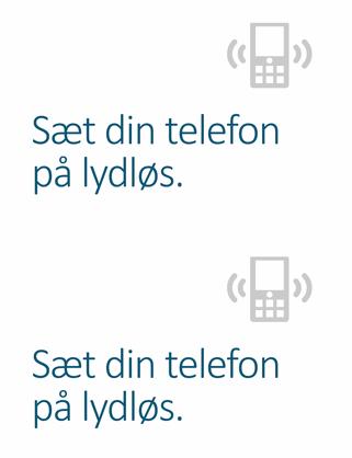 Påmindelsesplakat om at slukke mobiltelefonen