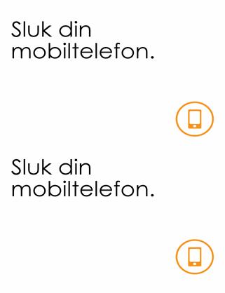 Påmindelse om at slukke mobiltelefonen