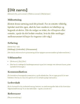 CV (grøn)