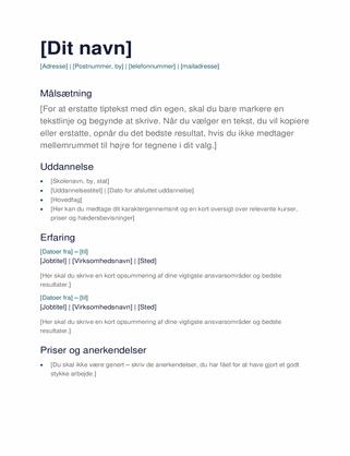 Enkelt CV