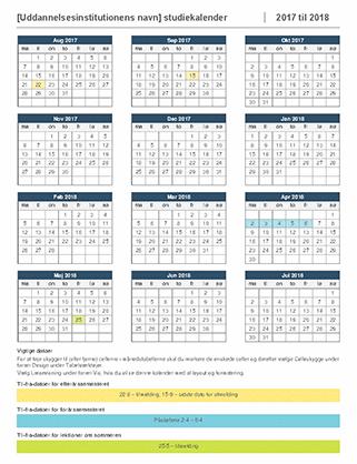 Studiekalender 2017-2018