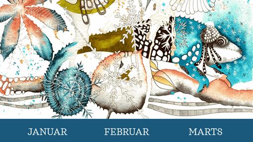 Kvartalskalender med kamæleoner