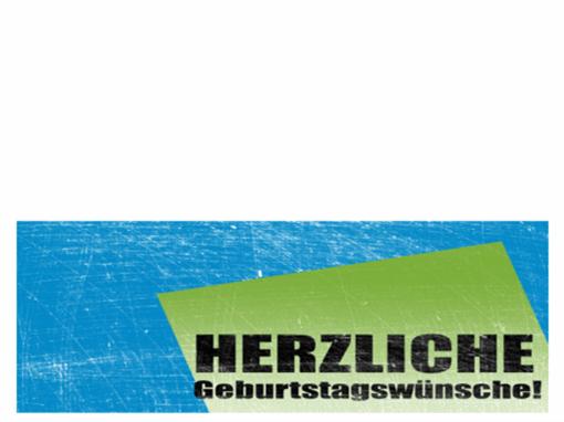 """Geburtstagskarte, Hintergrund """"Kratzer"""" (blau, grün, Mittelfaltung)"""