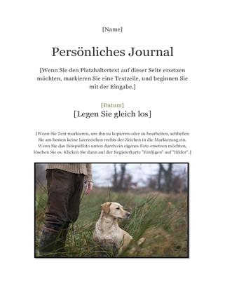 Persönliches Journal