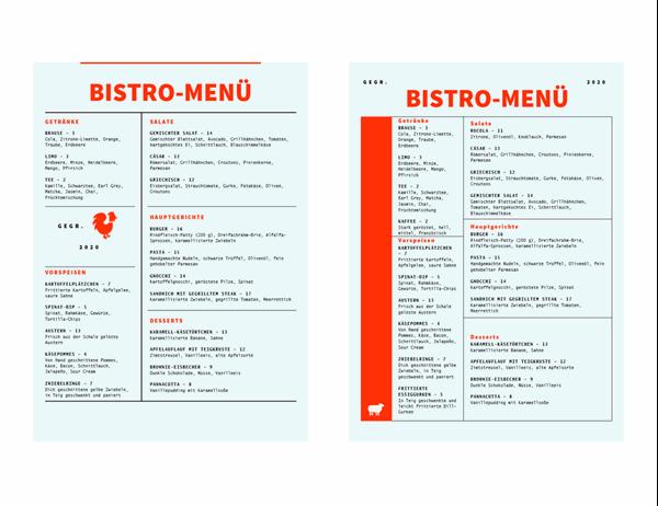 Bistro-Menü