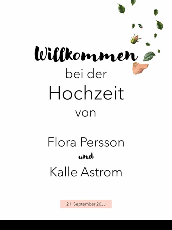 Florale Hochzeitszeichen