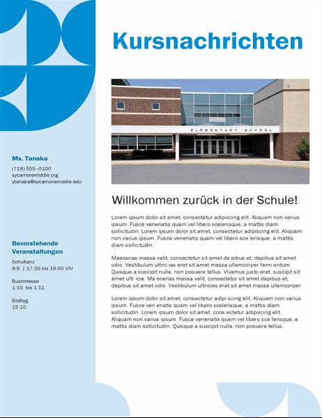 Klassenzimmer-Newsletter