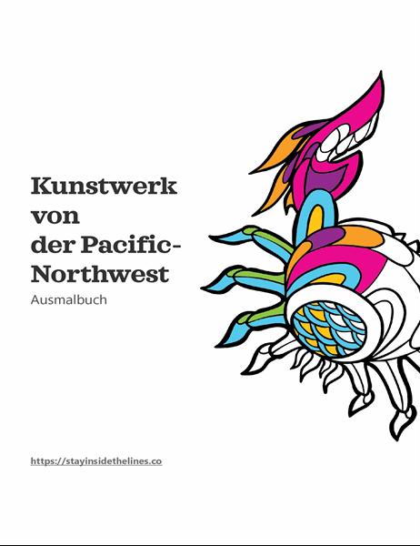 Kunst aus dem Pacific Northwest-Ausmalbuch
