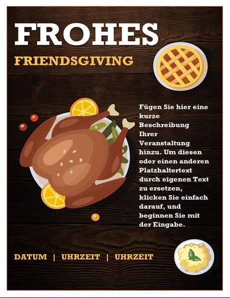 Friendsgiving Handzettel