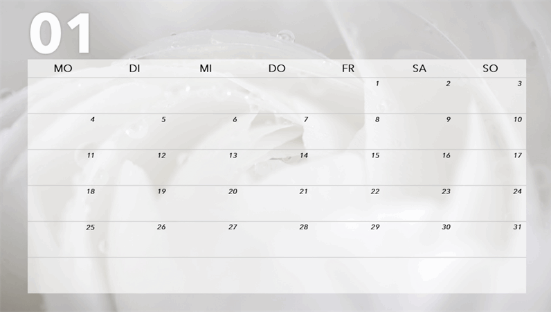 Monatskalender – Blumen