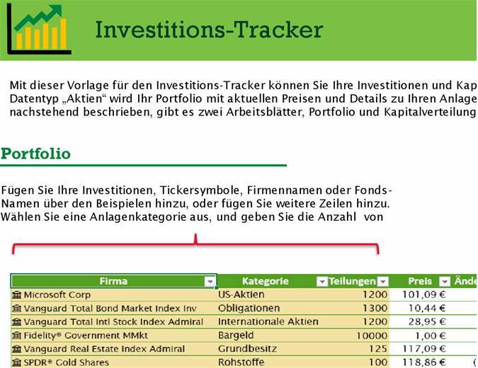 Investitions-Tracker