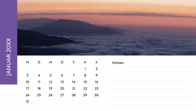 "Fotokalender ""Landschaften"""