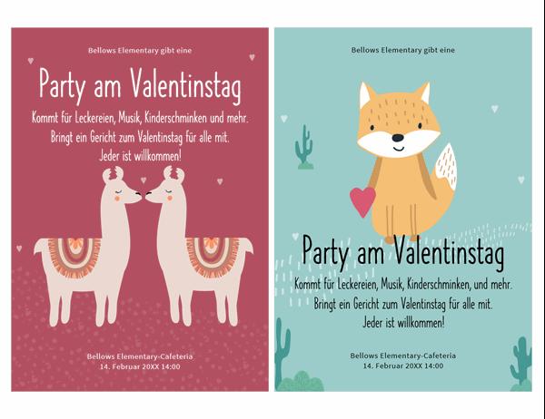 Flyer zum Valentinstag für Kinder