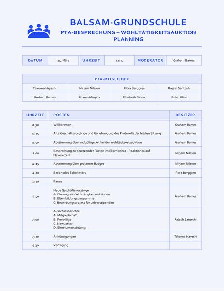 Blaues Protokoll für Sitzungen in Bildungseinrichtungen
