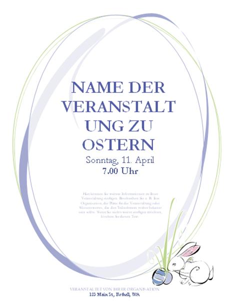 Handzettel für Veranstaltung zu Ostern (mit Osterhase)