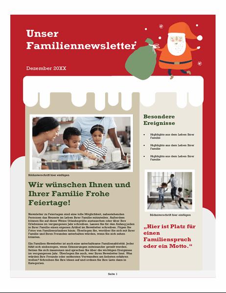 Familien-Weihnachtsnewsletter