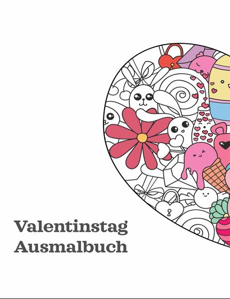 Malbuch zum Valentinstag