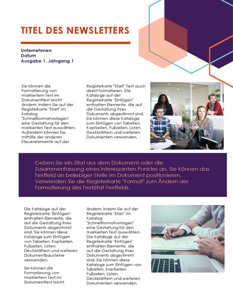 Newsletter (Führung-Design, 2 Seiten)