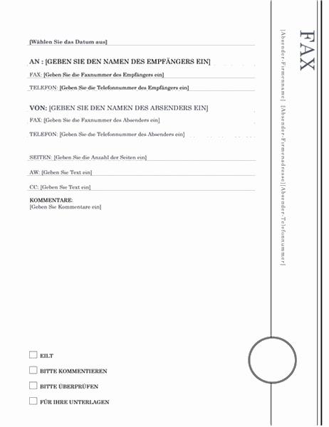 """Fax (Design """"Nereus"""")"""