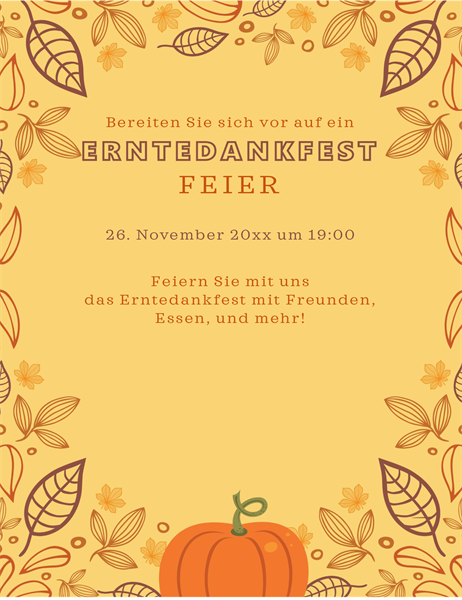 Herbst-Handzettel