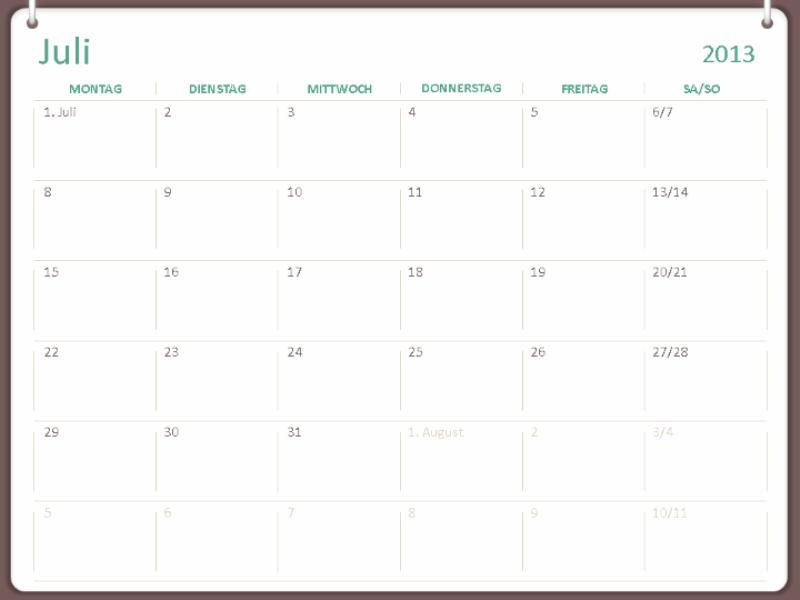 Schulkalender 2013-2014 (Juli)