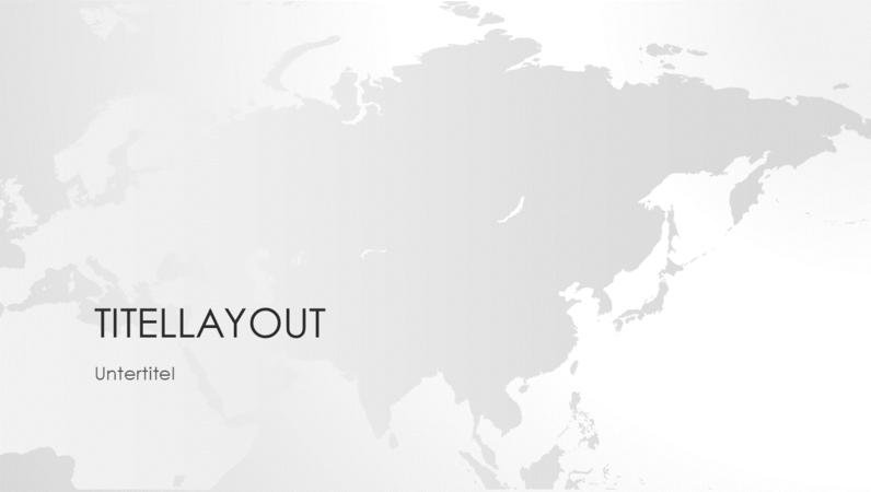 """Serie """"Weltkarten"""", Präsentation """"Asiatischer Kontinent"""" (Breitbild)"""