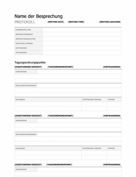 Sitzungsprotokoll (formell)