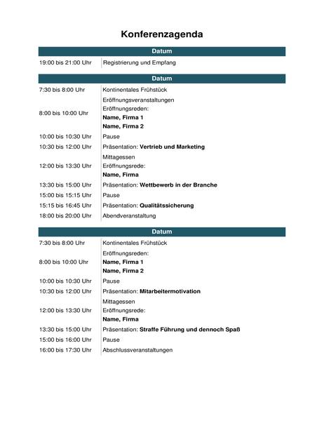 Konferenz-Veranstaltungskalender