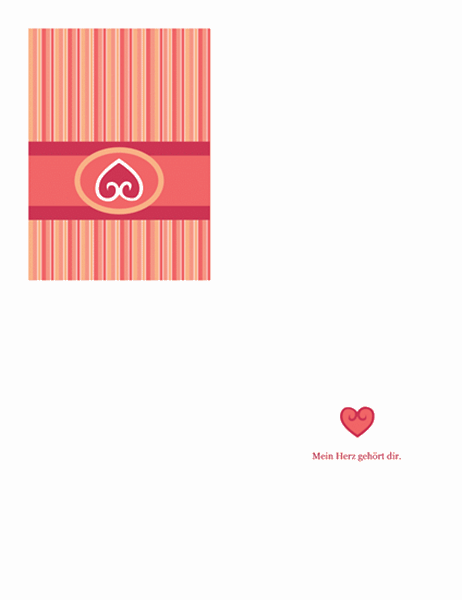 "Liebeskarte (Design ""Rot"")"